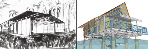 Prouvé\'s Maison Tropicale as compared with a Toma House.