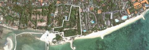 Site of planned Ferragamo Resort on Mertasari Beach, Sanur, Bali.