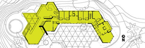 Plan, Linus Pauling Jr. Residence, by Vladimir Ossipoff.