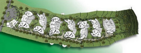 Villas pop up like (magic) mushrooms in this site plan . . .