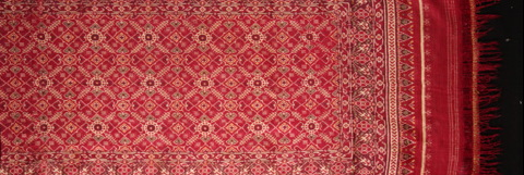 Patola textile offered by Joe Loux in Primal Art at the Presidio.