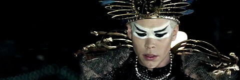 Lead man of Empire of the Sun who perform in Bali during high season 2011