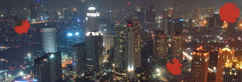 city of jakarta at night