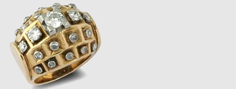diamond and gold ring by rene boivin