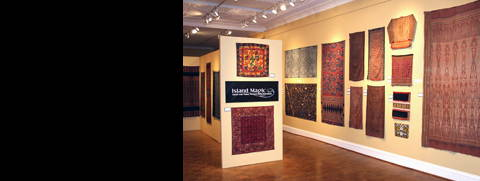 Entrance to Minasian\'s exhibition of Indonesian textiles in Chicago, November 2008 to January 2009.