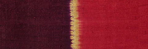 Detail of a fine Rothko-esque Sumatran textile offered by Zena Kruzick